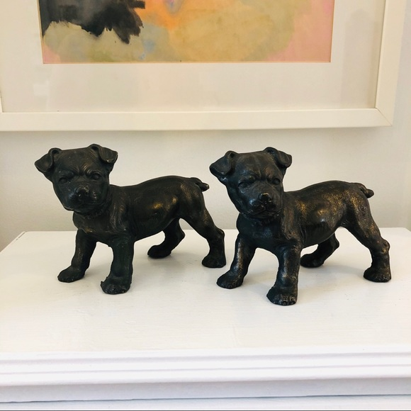 Vintage Other - Vintage very heavy cast iron dog figures